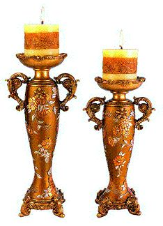 Victorian Rose Candleholder Set - Gallery of Home Decor