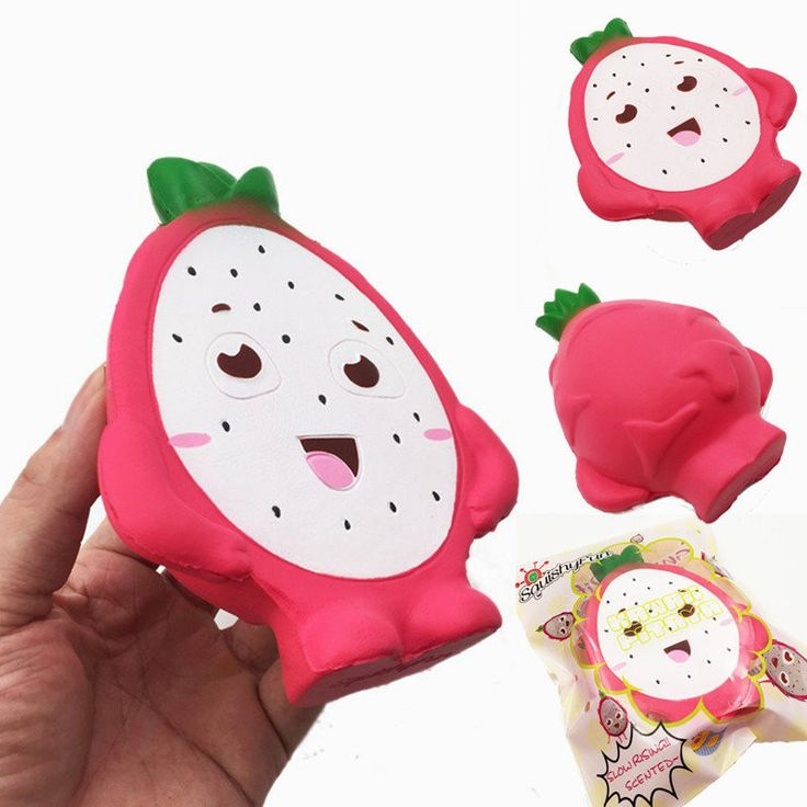 Squishyfun Pitaya Squishy Jumbo 14cm Dragon Fruit Slow Rising Original Packaging Collection Gift Toy