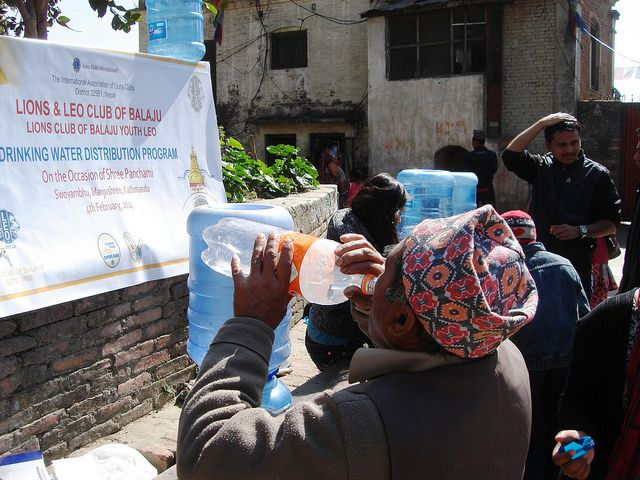 Lions and Leo Club of Balaju (Nepal) | Lions and Leos distributed 1000 liters of free drinking water at a festival