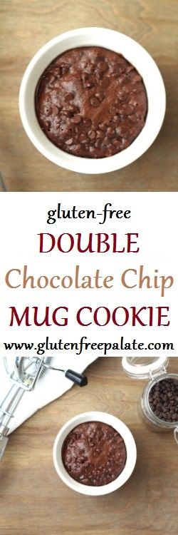 Whether you are just starting a gluten-free diet, are an expert gluten-free baker, or are looking for a quick and easy dessert, this Gluten-Free Double Chocolate Chip Mug Cookie is for you!