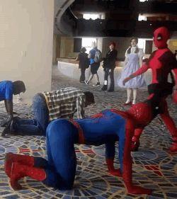 funny Deadpool cosplay | my gifs cosplay dat ass Deadpool spider-man SpideyPool gangnam style