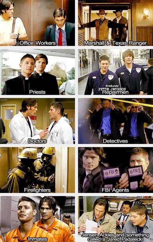 "(gif set) Supernatural Dress Up & ""on Thursday, we're teddy bear doctors."""