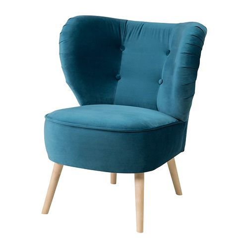 Ikea Gubbo Sessel Samt Turkis Die Sesselform Sorgt Fur Sanfte