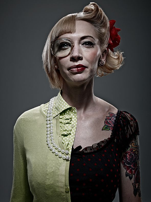 Awesome Split Personality Portraits Through Clever Styling (Not Photoshop) - My Modern Metropolis