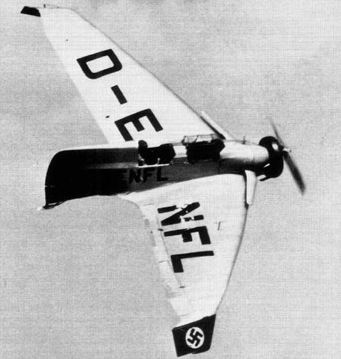 Lippisch DFS.39 (1936) aka Delta IV was a continuation of the work on delta wing designs pioneered in Delta I, Delta II and Delta III aircraft.