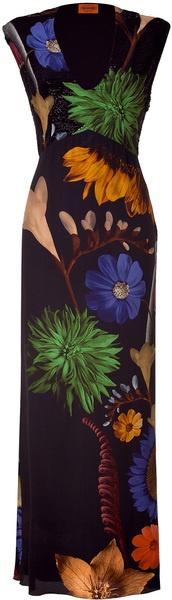 Missoni Black Floral Sequin Dress. #lesfleurs