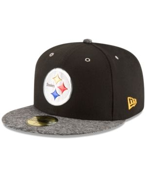 New Era Pittsburgh Steelers 2016 Nfl Draft On Stage 59FIFTY Cap - Black 6 7/8