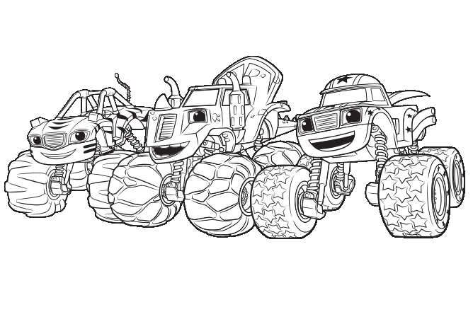 Printable Blaze And The Monster Machines Coloring Pages With