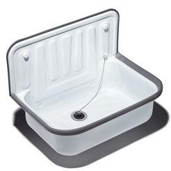 Quantex Utility sink white enameled