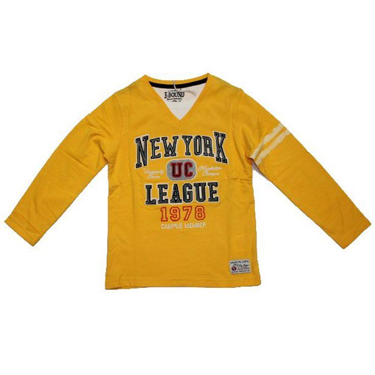 Ρούχα για αγόρια : Mπλούζα αγόρι NEW YORK ΚΊΤΡΙΝΟ