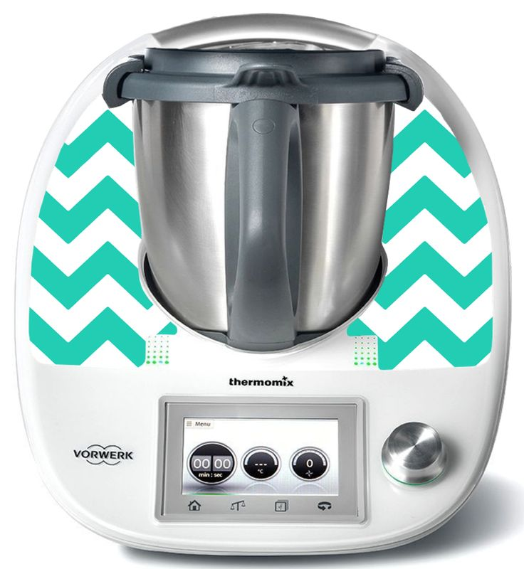 Chevron Turquoise TM5 - Thermomix Stickers by ThermoDress