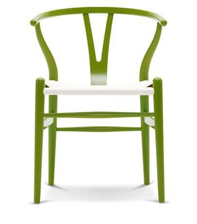 Krzesło Wishbone - kolor, białe siedzisko | Designzoo