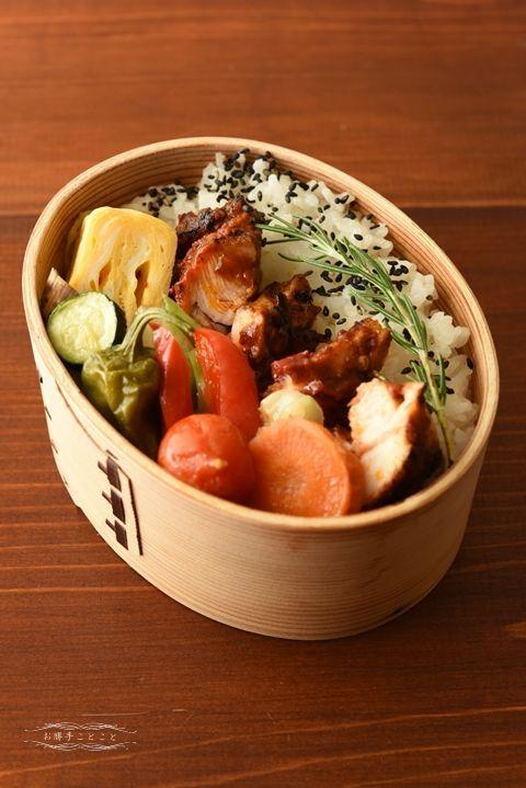Japanese box lunch, Grilled Chicken Bento, グリルチキン弁当