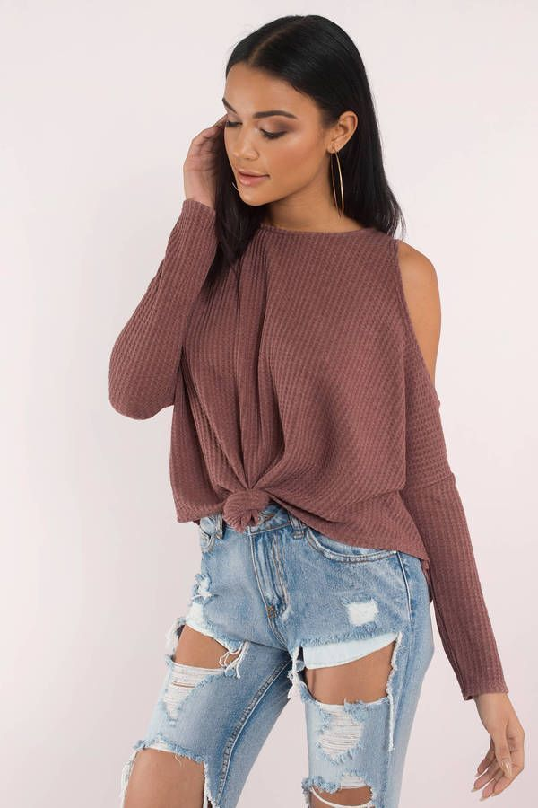 "Search ""Ruby Wine Cold Shoulder Tee"" on Tobi.com! sweater knot mauve cut out cutouts long sleeve sweatshirt #ShopTobi #fashion shop buy cheap inexpensive ideas chic fashion style fashionable stylish comfy simple chic essential capsule Basic outfit simple easy trendy ideas for women teens cute college fall winter summer spring outfit outfits comfortable shorts work school classy everyday business california LA"