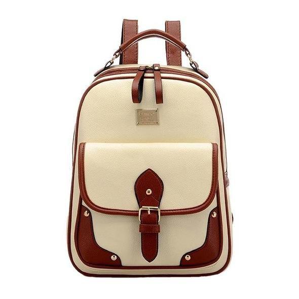 LUCK DAY Hot Womens New Backpack Travel PU Leather Handbag Rucksack Shoulder School Bag