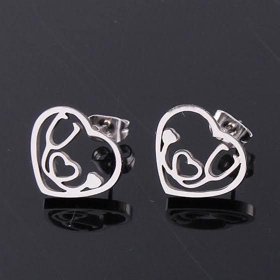 Awesome new style of our gorgeous medical stethoscope jewelry is here! Nurses, doctors, and anyone in--or about to be in—the medical field will love this unique earrings. The stethoscope is enclosed i