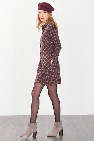 EDC / Kariertes Hemdblusen-Kleid