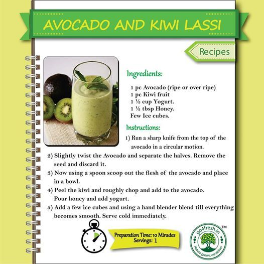 Avocado and Kiwi Lassi , yummy and healthy recipe