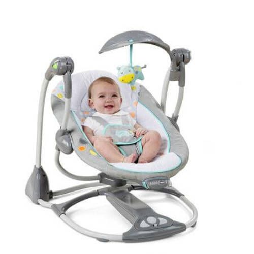 Swing For Baby 2-Seat Convertible Chair Rocker Portable Toddler Cradle Avondale #1
