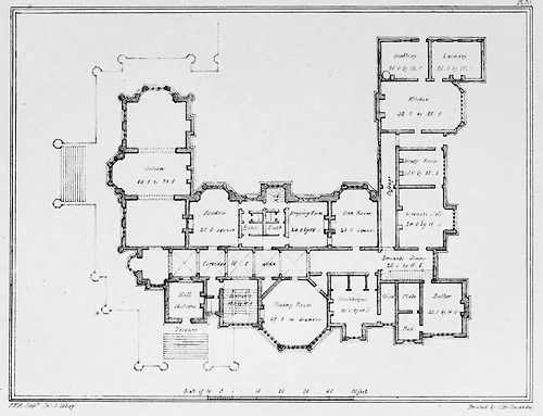 Large Country Estate England Floor Plans Castles