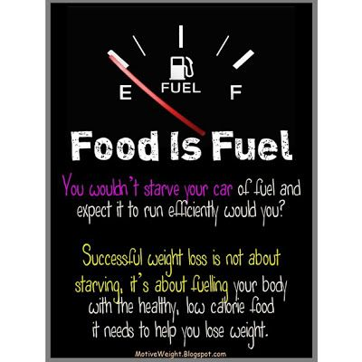 Food is fuel! It's also medicine. Eat what will nourish your  body, not just satisfy your hunger.