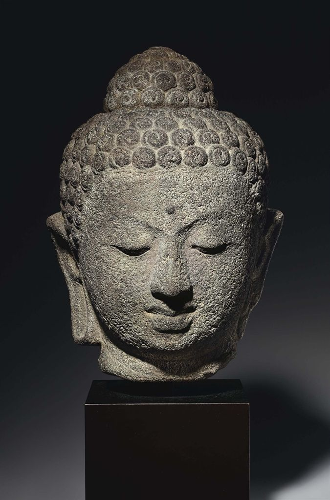 """See simplicity in the complicated, Seek greatness in small things. In the Universe, the difficult things are done as if they were easy.""   ~ Lao Tsu   * An andesite head of Buddha. Indonesia, Central Java, 9th century.   <3 lis"