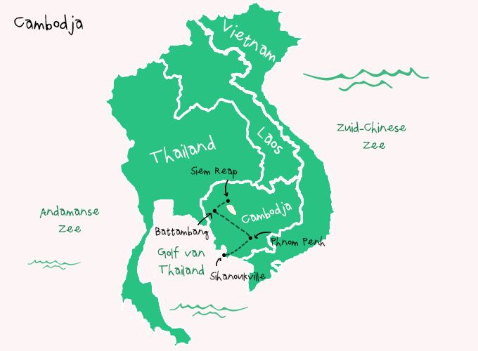 Backpack Route Cambodja