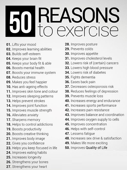 50 reasons to exercise