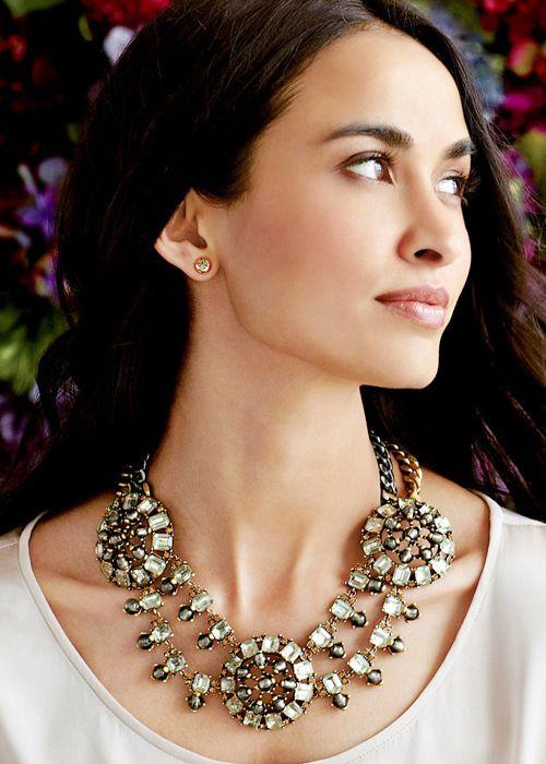 Урожай Роскошные Подражать бриллиантовые ожерелья для женщин горный хрусталь Классические цепи Крутящий момент Бижутерия Аксессуары US $19.20