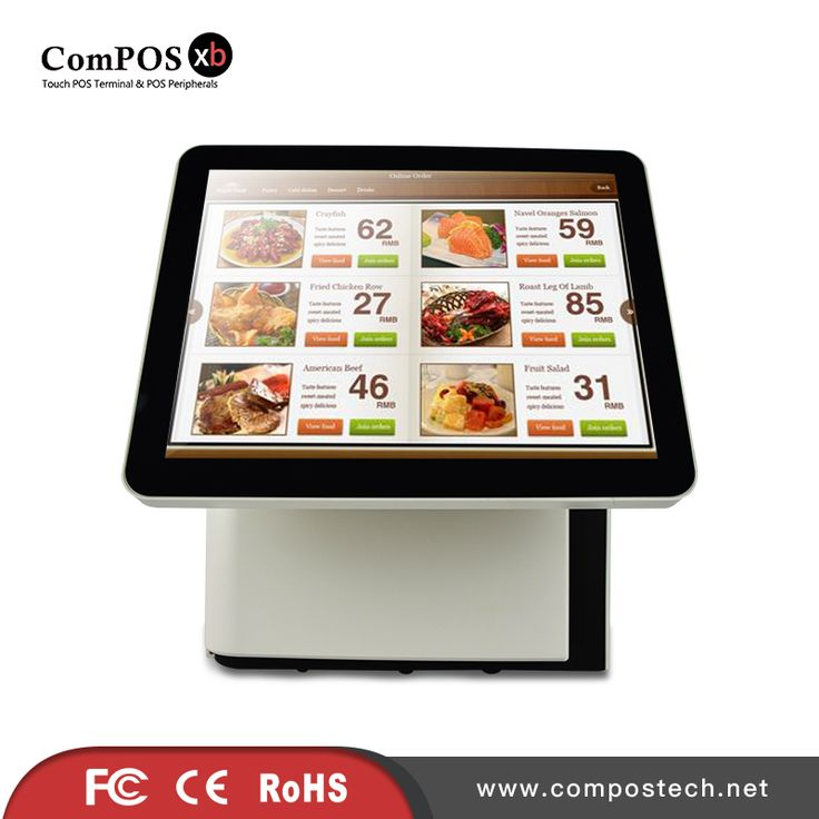 Restaurant POS System With i3 Processor With 15 Inch Touch Screen Monitor With 15 Inch Display With Built-in Card Reader
