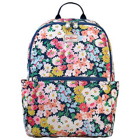 Buy Cath Kidston Daisy Bed Foldaway Backpack, Navy Online at johnlewis.com