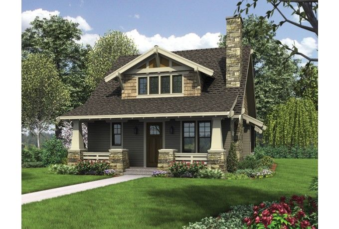 ePlans Bungalow House Plan – Classic Craftsman Bungalow With Loft – 1777 Square Feet and 3 Bedrooms from ePlans – House Plan Code HWEPL76520