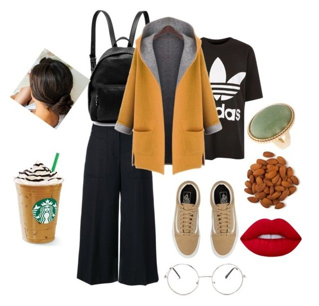 """""""Untitled #171"""" by ezerys on Polyvore featuring adidas, Kenzo, STELLA McCARTNEY, WithChic, Vans, Lime Crime and Garnier"""