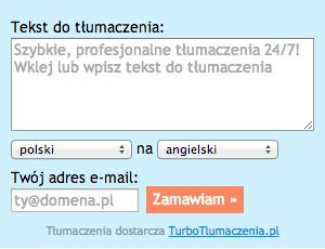 TurboTlumaczenia.pl widget for professional translations. Beta version :)