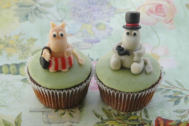 Moomin cupcakes by Maria Olejniczak, via Flickr