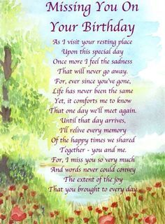 Birthday Poems For Someone In Heaven