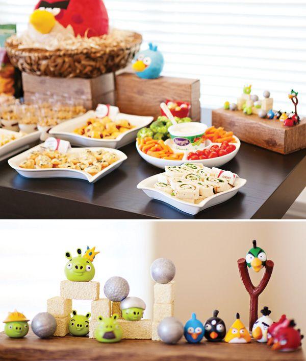 Irritado-aves-partido-food de mesa