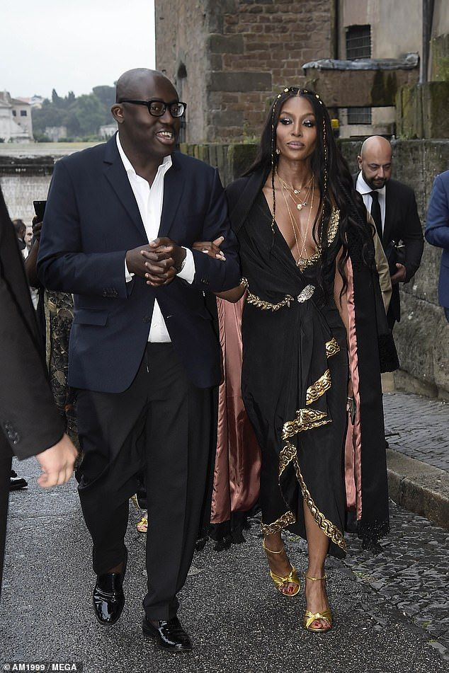 Best Dressed 2020 Naomi Campbell in Gucci attends the Gucci 2020 cruise show in Rome