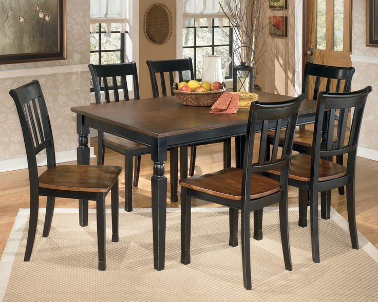 Owingsville 7 Piece Rectangular Dining Table Set By Signature Design Ashley Part Of The