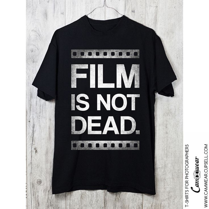 Analogue Film Photography t-shirt FILM IS NOT DEAD from Camwear. Gift for photographer. http://camwear.cupsell.com/product/2348315-product-2348315.html