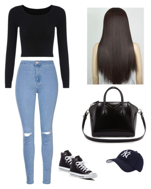 """Untitled #4"" by hannaklar on Polyvore featuring Glamorous, Converse, Givenchy and Hartford"