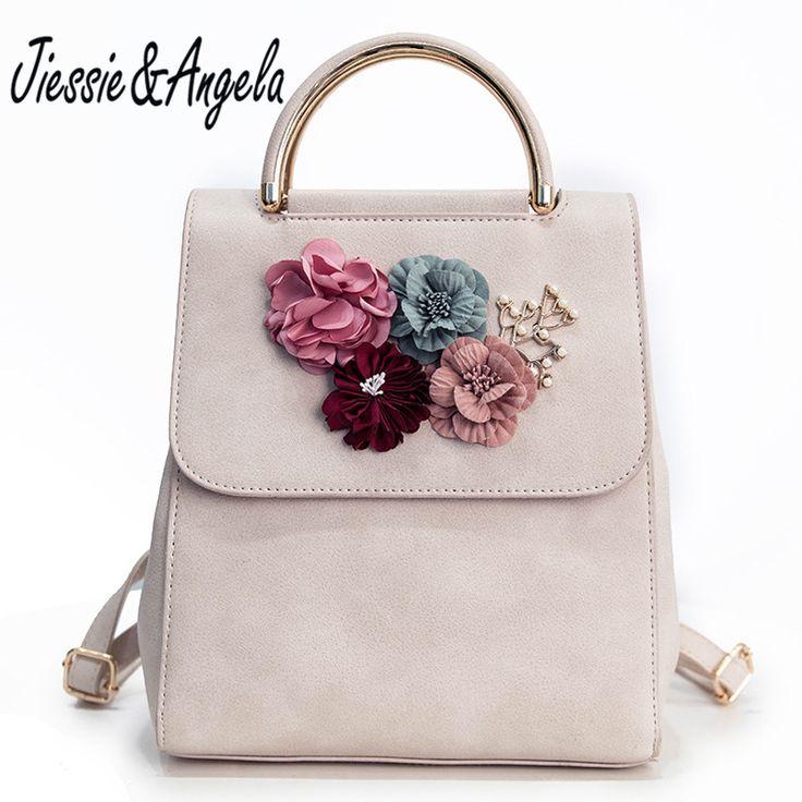 Jiessie & Angela 2017 New Floral Women Bag Fashion Backpacks For Teenage Girls School Bags Women Travel Backpacks //Price: $28.40 & FREE Shipping //     #hashtag1