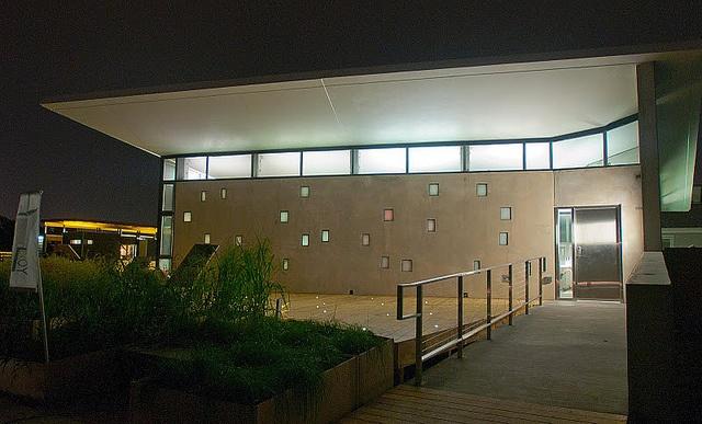 ENJOY House shines at night by ENJOY House - Team NJ, Solar Decathlon 2011, via Flickr