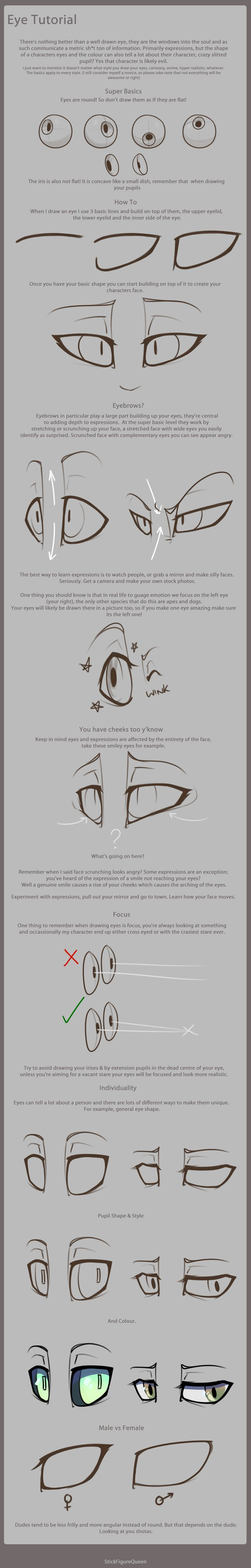 Eye Tutorial by StickFigureQueen.deviantart.com on @deviantART|  ho, the humorous tutorials tend to be some of the best.