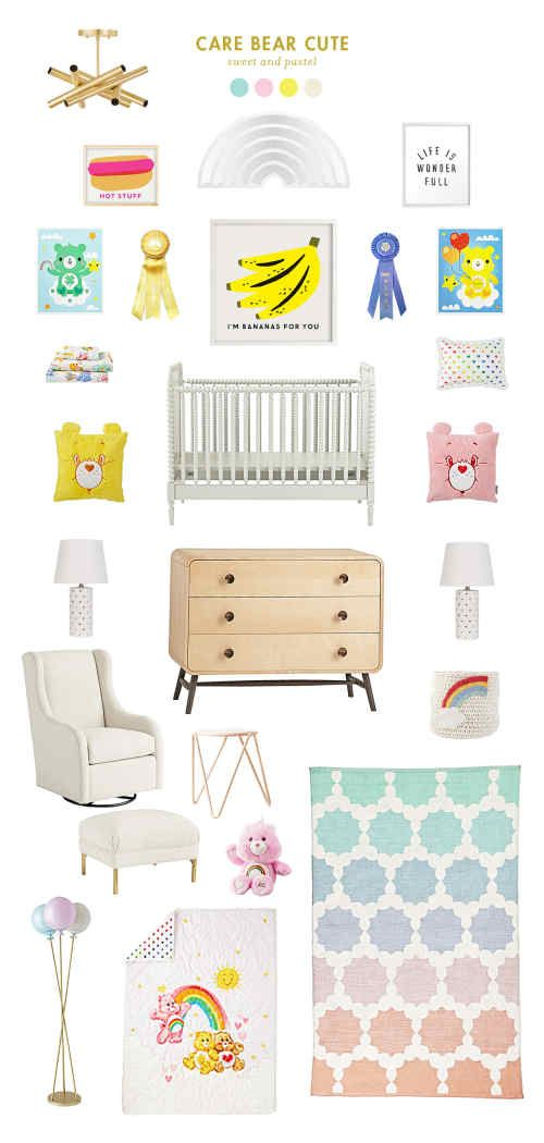 Care Bears Inspired Baby Room
