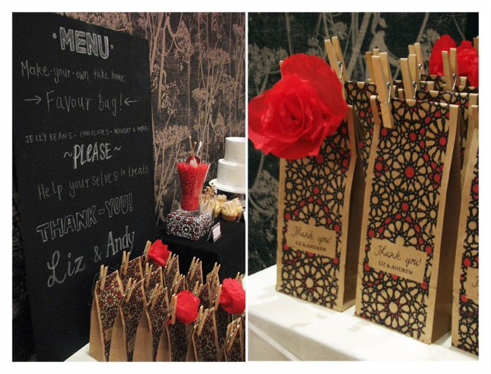 Flamenco Rose Inspired Guest Dessert Table