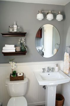 It S Just Paper At Home Powder Room Renovation Hopefully For My Basement These Half Bathroom Remodeling Ideas