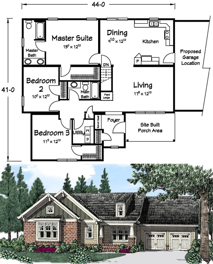28 best Ranch Style Homes images on Pinterest | Floor plans, House ...