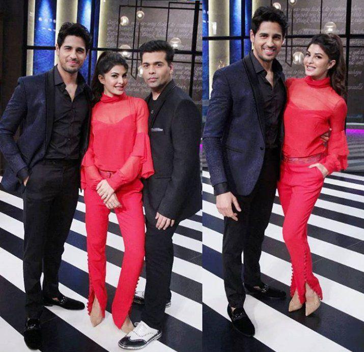 Sidharth Malhotra, Jacqueline, Karan Johar