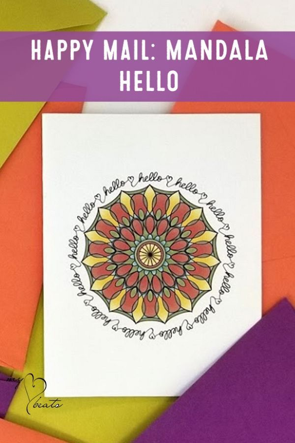 Hello Greeting Card For Direct Sellers To Send Their Teams And Customers Mandala Happymail Directsales